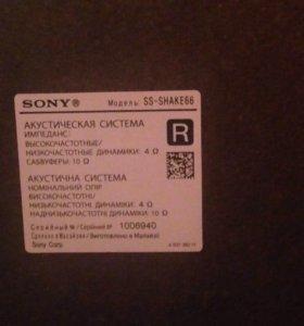 Колонки Sony с подсветкой