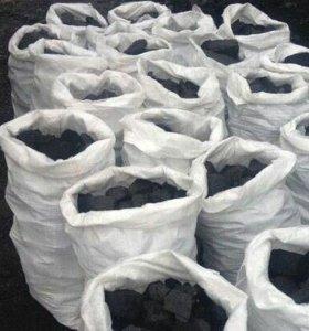 Уголь в мешках, дрова в мешках сухие Новоалтайск