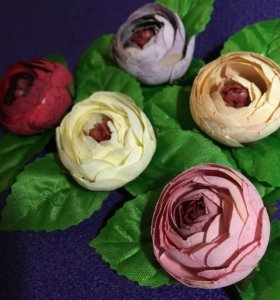 Цветы скрапбукинг шебби флорист декор бутон пион