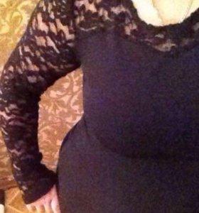 48-52 Чёрное платье, кружево