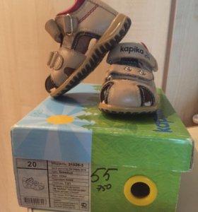 Сандали  обувь кожа  Kapika  20 р