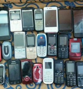 Куча телефонов 25 штук