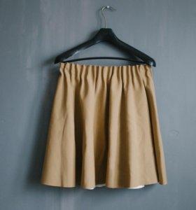 Бежевая юбка Zara размер M