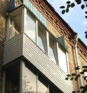 1.Отделка балкона под ключ