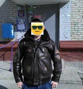 Офигенная кожаная куртка
