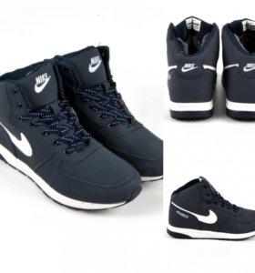 Кроссовки мужские Nike зимние 42 серые navy