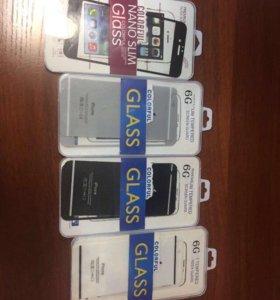 Комплект защитных стёкл на IPhone 6