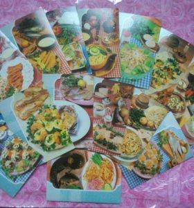 Набор открыток Блюда из рыбы, 22 штуки, рецепты