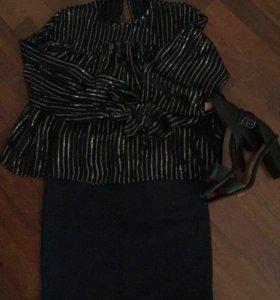 Комплект Zara Блуза Юбка