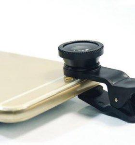 Объектив на телефон на прищепке