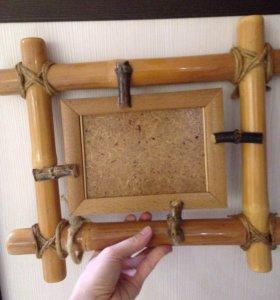 Фоторамки бамбуковые 2 шт