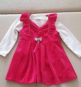Платье для девочки рост 80-86