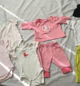 Вещи для девочки от 2 до 6 месяцев