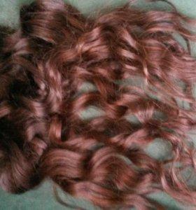 Продам натуральные волосы на трессах славянка