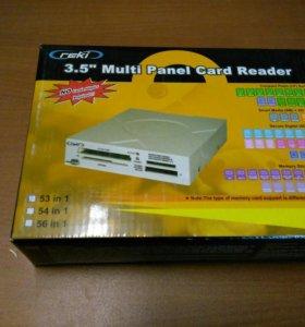 """Картридер внутренний 3.5"""" REKI USB2.0 53-in-1"""