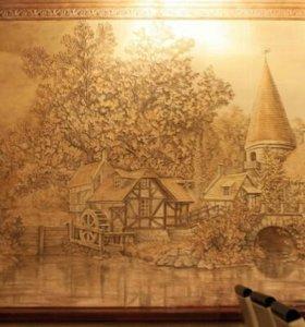 Настенное панно на стене