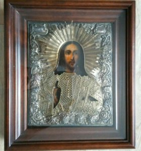 Икона 19 век Господь Вседержитель 27 х 22