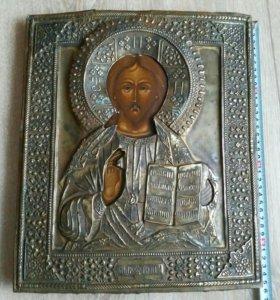 Икона 19 век Господь Вседержитель 35х29