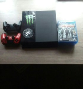 PlayStation 4 500gb + 5 игр