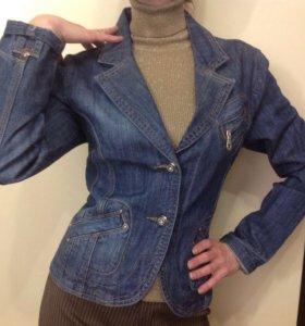 Новый джинсовый пиджак 42-44 р