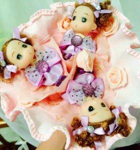 Плюшевые и сладкие букеты