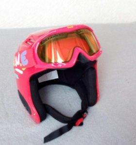 Горнолыжный шлем и маска