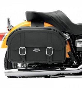 Новые боковые сумки на мотоцикл с крепежами