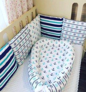 Бортики и гнёздышко в кроватку