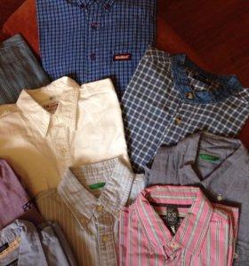 Рубашки, мужские сорочки, Cap horn, Zara, Benetton