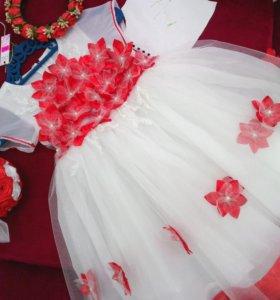 Платье 2-4 года. М.9711
