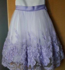 Нарядное платье для девочки и болеро.