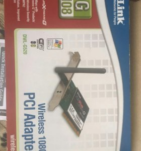 Беспроводной PCI адаптер Wi-Fi D-Link DWL-G520