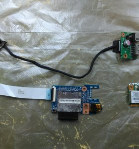 Разъем питания + Wi Fi модуль + Картридер