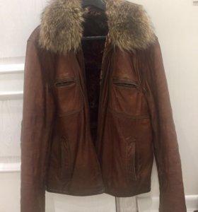 Зимняя куртка из кожи