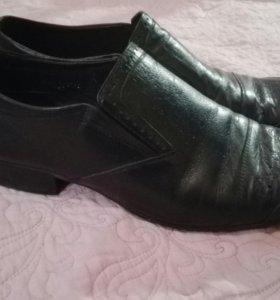 44 р-р Мужские кожаные ботинки