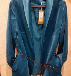 Новый пиджак бархат бирюза