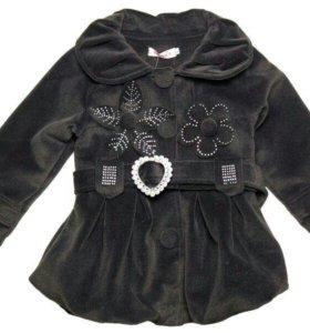 Новое пальто на флисовом подкладе размер 92/98