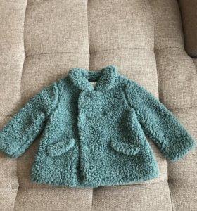 Плюшевое пальто кофта