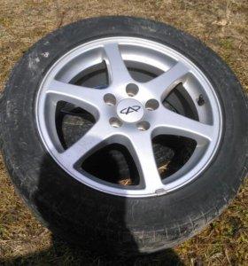 Комплект летних шин 205/55 R16 на литье