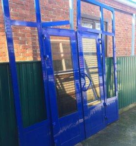 Окна витражные двери стеклопластик
