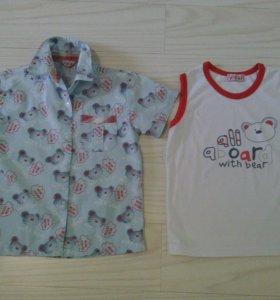 Рубашка с майкой