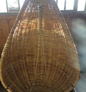 Качели из ивовых прутьев