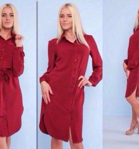 Платье-рубаха новая