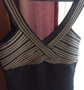 Платье чёрное S