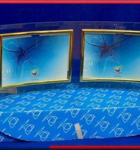 фоторамка стеклянная 2 по 10*15