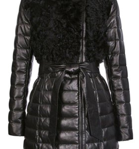Пальто кожаное новое