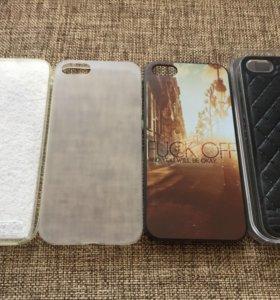 Чехлы на айфон 5. Четыре штуки