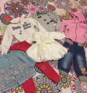 Вещи на девочку пакетом б/у,одежда