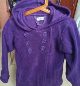 Флисовое пальто и куртка для девочки 6-7 лет