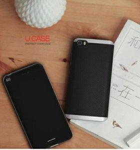 Чехол-бампер Ipaky Xiaomi Mi5 (Серебристый)